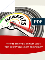 Enrich White Paper How to Achieve Maximum Value From Your Procurement Technology