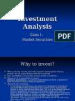 security Inv Analysis Class 1 Securities Market