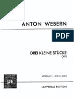 Op. 11 - Drei Kleine Stücke Für Violoncello Und Klavier