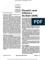 Khomeini's secret SAVAMA is the Shah's SAVAK