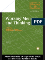 II. Libro. Working Memory and Thinking. Logie y Ericsson (Eds.)