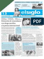 Edicion Impresa Elsiglo 13-11-2015