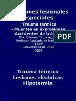 Medicina Legal. Lesiones Especiales