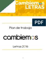 Plan de Trabajo Letras 2016