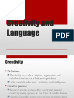 creativity and language