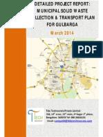 Final Dpr for Msw c&t Plan Gulbarga Dpr March 2014