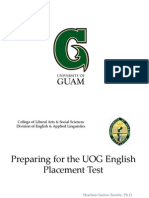 UOG English Placement Test Tips