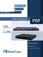LTRT-83309 Mediant 600 and Mediant 1000 SIP User's Manual v6.4