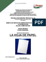 Análisis Objeto Técnico La Hoja de papel