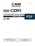 Tascam SS CDR1 Manual