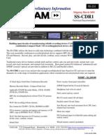 Tascam SSCD R1 Tech Doc