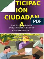 Tema 9; Participación Ciudadana