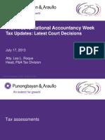 (Regulators Day) Court Decisions ELR PICPA for Presentation