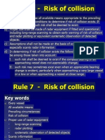 Rule 07 - Risk of Collision ROR