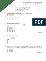 Latihan Un Sma 2011 Matematika IPA1