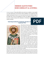 Orthodox Saints Who Evangelized Germany