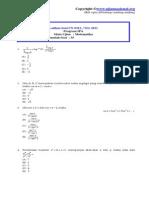Latihan Un Sma 2011 Matematika IPA