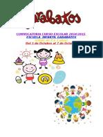 Convocatoria Matricula Escuela Infantil