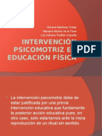 Intervención Psicomotriz en Educación Física Autopercepcion