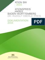 2015 - Dokumentation des Innovationspreises des Landes Baden-Württemberg 2015