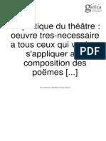 L'Abbé d'Aubignac - La Pratique Du Théâtre 1657