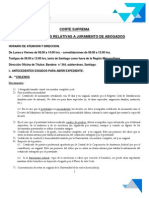 Requisitos Para Jurar en Chile