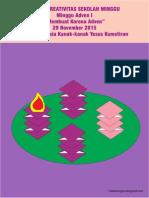 Bahan Kreativitas Sekolah Minggu 29 November 2015 PIA St.Theresia Kanak-kanak Yesus Kumetiran