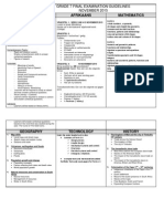 Grade 7 Final Examination Guidelines 2015