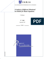 Numerical Analysis of Different Vibrational Relaxation Models for Master Equations