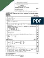 Barem corectare model de subiecte Matematică tip mate-info Bac 2016