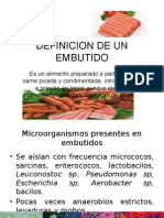 Microbiologia de EMBUTIDO