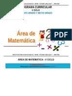 Área Matemática v Ciclo