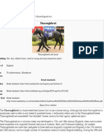 Thoroughbred (Horse) Breed Information