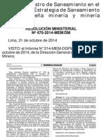 MI- RM 470-2014-MEM_DM Crean Registro Saneamiento. 22oct14