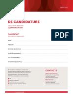 Le dossier de candidature de Cécile de Ménibus