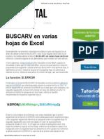 BUSCARV en Varias Hojas de Excel