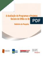 A Avaliação de Programas e Projetos Sociais de ONGs No Brasil