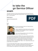 How to pass the FSO