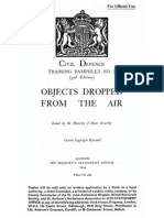Objects Dropped From the Air 1944 British Restricted Classified Summary of German and British WWII Bombs