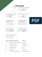 Formulas para Arranque de Viruta