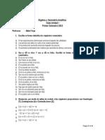 Guía 1 de Álgebra y Geoemtría Analítica D-V