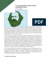 Marx y La Fractura en El Metabolismo Universal de La Naturaleza