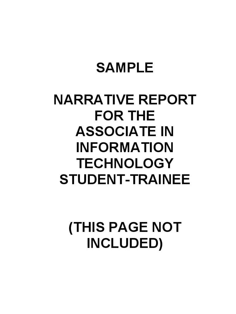 sample preface for ojt Narrative report (on the job trainee) sample for free on studymoose example of introduction in narrative report (ojt) сlick here to learn more.