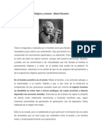 Religión y Ciencia. Einstein