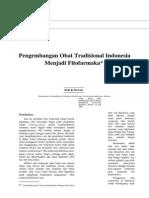 Pengembangan Obat Tradisional Indonesia