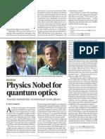 Physics Nobel for Quantum Optics