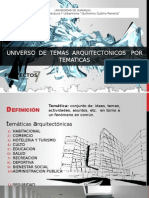 tematicas de arquitectura