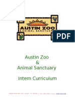 austin zoo intern curriculum
