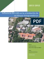 Influencia Del GSD en La Orientación de Un Bloque Fotogramétrico