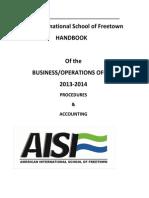 American International school of Freetown Procedual Manual